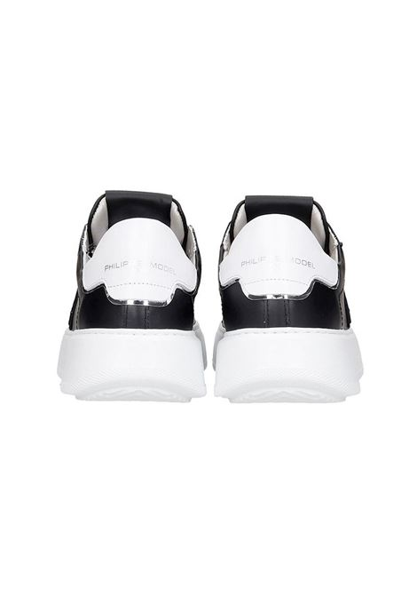 Sneakers Temple Veau- Noir Blanc Philippe Model | 10000002 | A10ILBTLDV005005