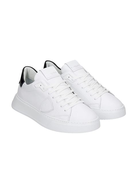 PHILIPPE MODEL SNEAKERS TEMPLE L IN PELLE BIANCA  Philippe Model | 10000002 | A11EBTLUV0071