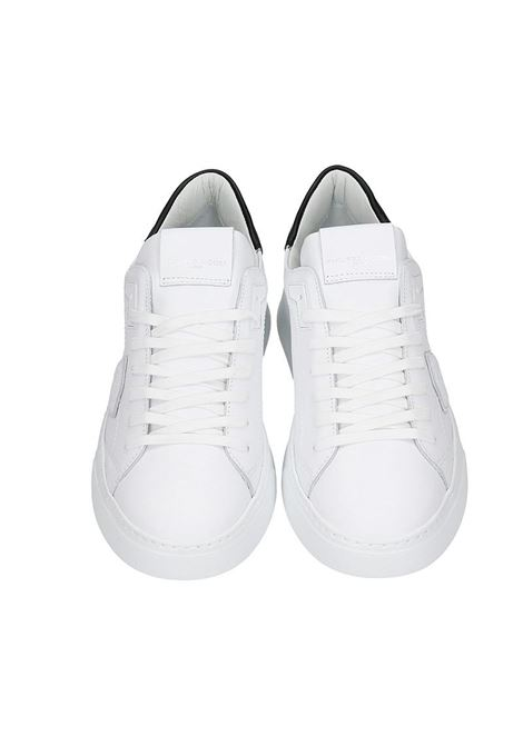 PHILIPPE MODEL SNEAKERS TEMPLE L IN PELLE BIANCA  Philippe Model | 12 | A11EBTLUV0071