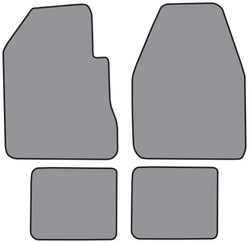 1966-1970 Dodge Charger 4 Speed Loop 4pc Factory Fit Floor Mats