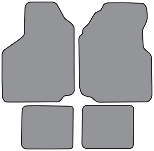 1981 1989 Plymouth Reliant Floor Mats 4pc Cutpile