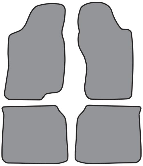 1995-2002 Volkswagen Cabrio Floor Mats - 4pc - Cutpile | Fits: Convertible