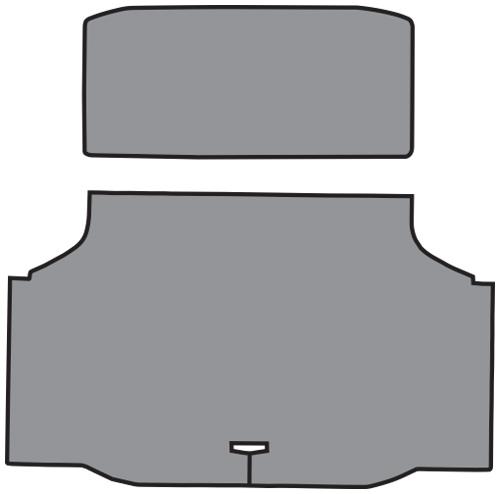 1970-1972 Oldsmobile Cutlass Vinyl 2pc Factory Fit Trunk Mats
