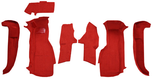 1994-1996 Corvette Carpet Replacement - Cutpile - Front | Fits: Front Set with Pad without Door Panels