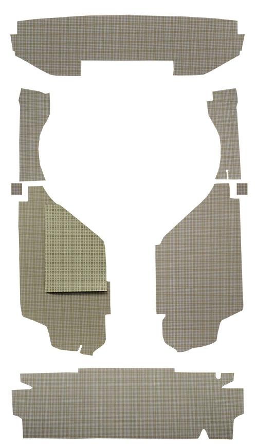1959 Ford Galaxie Trunk Mat Kit Cardboard Material