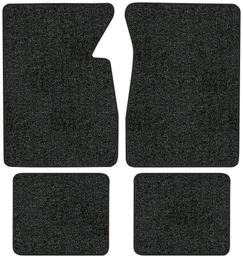 1974-1976 Cadillac DeVille Coupe Cutpile Carpet Logo Floor Mat 4pc