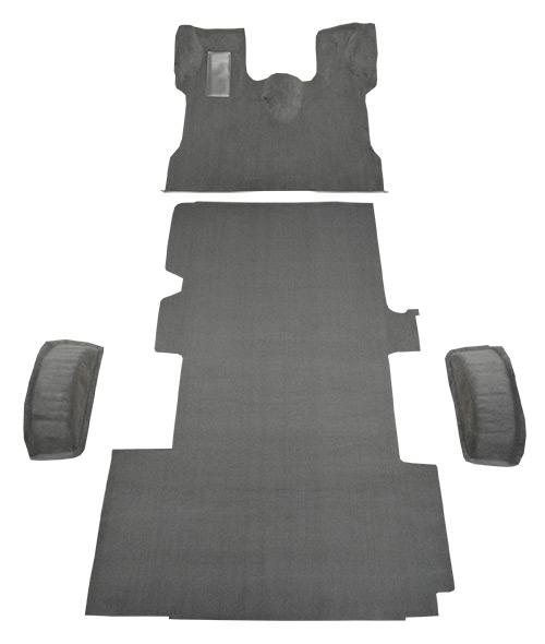 1992-1996 Ford E-250 Econoline Carpet Replacement - Cutpile - Complete | Fits: Ext, Fits Gas or Diesel Complete