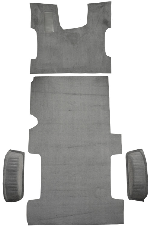 1992-1996 Ford E-250 Econoline Carpet Replacement - Cutpile - Complete | Fits: Reg, Fits Gas or Diesel Complete