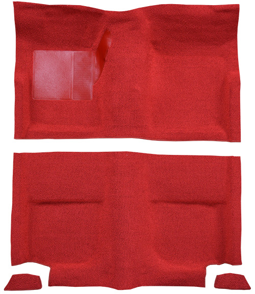 1965-1968 Ford Mustang Carpet Replacement - Nylon - Passenger Area | Fits: Fastback, without Folddowns