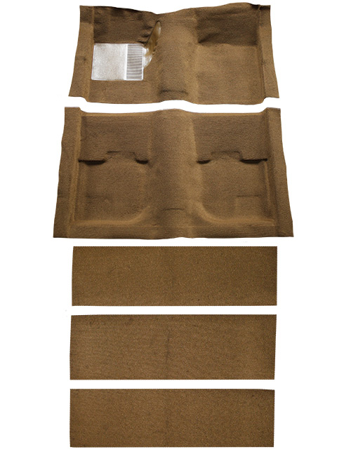 1969-1970 Ford Mustang Carpet Replacement - Nylon - Complete | Fits: Fastback, with Folddowns