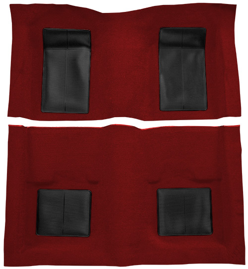 1969 Ford Mustang Carpet Replacement - Nylon - Complete | Fits: Fastback, Mach I with 4 Black Inserts