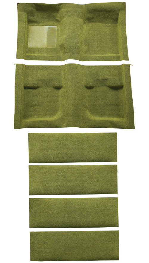 1971-1973 Ford Mustang Carpet Replacement - Nylon - Complete | Fits: Fastback, with Folddowns