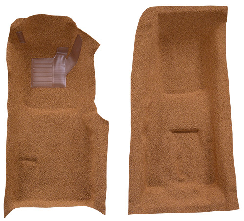 1971-1975 Corvette C3 Carpet Replacement - Loop - Front | Fits: 4spd, Front with Pad