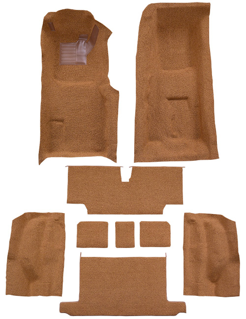 1973-1975 Corvette C3 Carpet Replacement - Loop - Complete   Fits: Roadster, 4spd, Complete with Pad