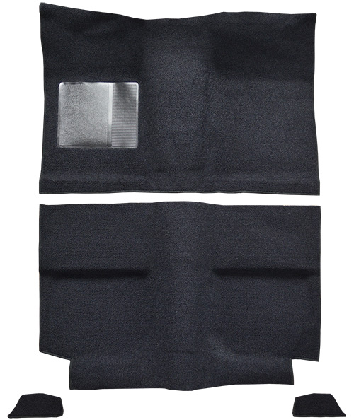 1964 Ford Mustang Carpet Replacement - Nylon - Passenger Area | Fits: Fastback, without Folddowns