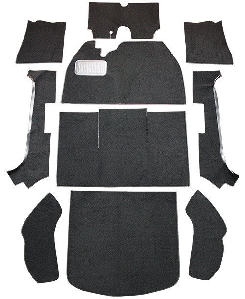 1974-1979 Volkswagen Beetle Carpet Replacement - Cutpile - Complete | Fits: 2DR, Convertible, Flat Front