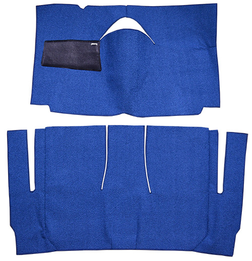1959 Ford Galaxie Carpet Replacement - Loop - Complete | Fits: 2DR, Hardtop, Standard Seats, Cut & Sewn