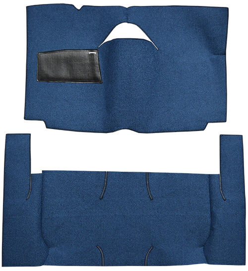 1959 Ford Ranch Wagon Carpet Replacement - Loop - Complete | Fits: 2DR, Standard Seats, Cut & Sewn