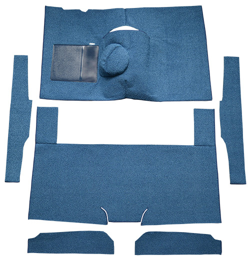 1960-1965 Ford Ranchero Carpet Replacement - Loop - Complete | Fits: 4spd, Bench Seat, 6 Cylinder Cut & Sewn