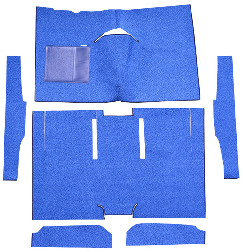 1960-1965 Ford Ranchero Carpet Replacement - Loop - Complete | Fits: Auto, Bucket Seat, Cut & Sewn