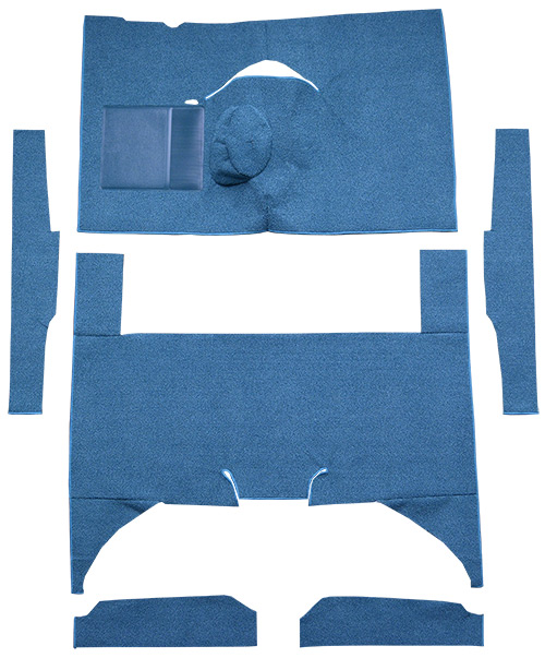 1960-1965 Ford Falcon Carpet Replacement - Loop - Complete | Fits: 4DR, Sedan, 4spd, Bench Seat, 6 Cylinder