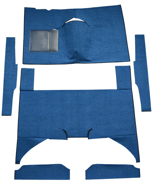 1960-1965 Ford Falcon Carpet Replacement - Loop - Complete | Fits: 4DR, Sedan, Auto, Bench Seat, Cut & Sewn