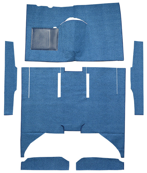 1960-1965 Ford Falcon Carpet Replacement - Loop - Complete | Fits: 4DR, Sedan, Auto, Bucket Seat, Cut & Sewn