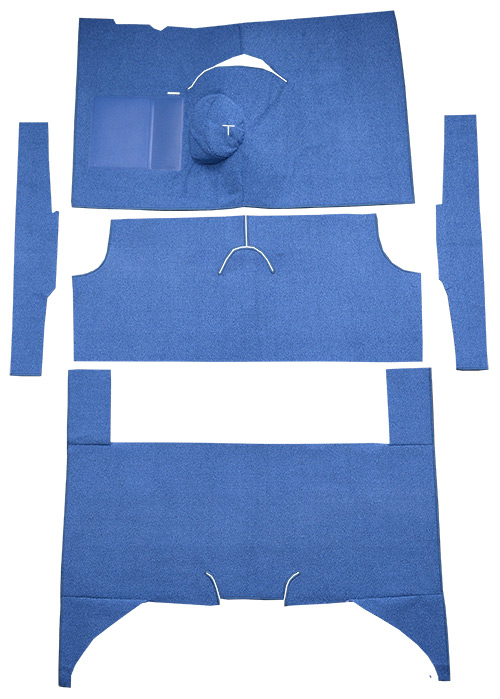 1960-1965 Ford Falcon Carpet Replacement - Loop - Complete | Fits: 4DR, Wagon, 4spd, Bench Seat, 6 Cylinder