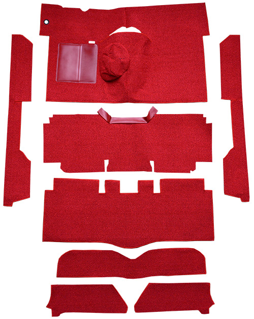 1963-1965 Ford Falcon Carpet Replacement - Loop - Complete | Fits: 2DR, Convertible, 4spd, Bucket Seat, 6 Cylinder