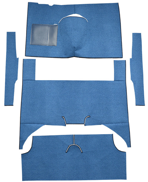 1960-1965 Ford Falcon Carpet Replacement - Loop - Complete | Fits: 4DR, Wagon, Bench Seat, Cut & Sewn