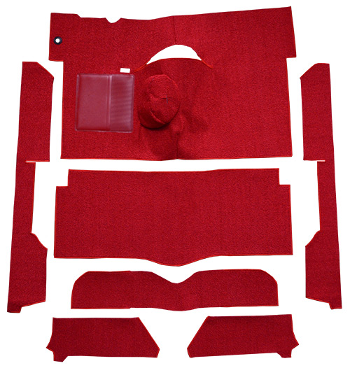 1963-1965 Ford Falcon Carpet Replacement - Loop - Complete | Fits: 2DR, Convertible, 4spd, Bench Seat, 6 Cylinder