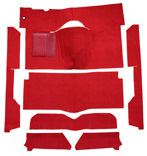 1963-1965 Ford Falcon Carpet Replacement - Loop - Complete | Fits: 2DR, Convertible, Bench Seat, Cut & Sewn