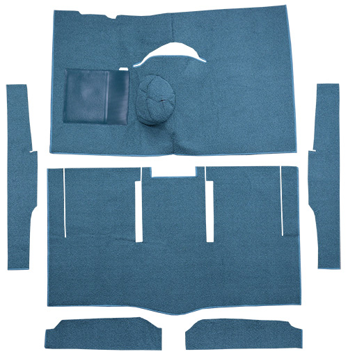 1963-1965 Ford Falcon Carpet Replacement - Loop - Complete | Fits: 2DR, Hardtop, 4spd, Bucket Seat, 6 Cylinder