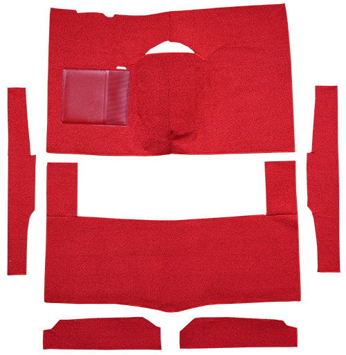 1963-1965 Ford Falcon Carpet Replacement - Loop - Complete | Fits: 2DR, Hardtop, Auto, Bench Seat, Cut & Sewn
