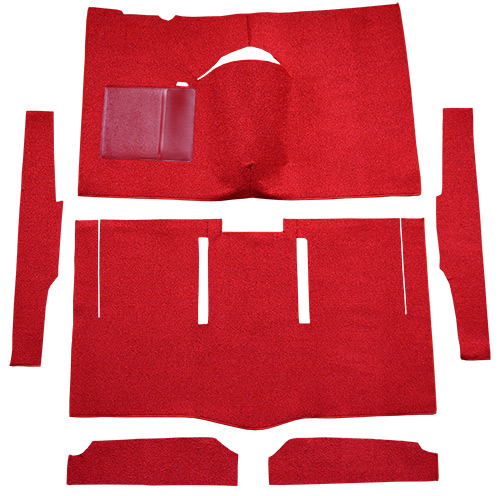 1963-1965 Ford Falcon Carpet Replacement - Loop - Complete | Fits: 2DR, Hardtop, Auto, Bucket Seat, Cut & Sewn