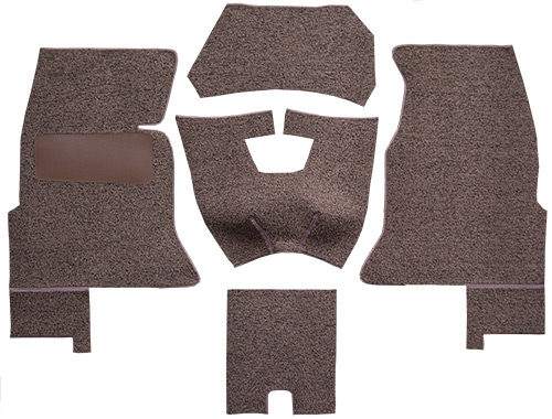 1961-1962 Corvette C1 Carpet Replacement - Tuxedo - Complete | Fits: Complete Foam