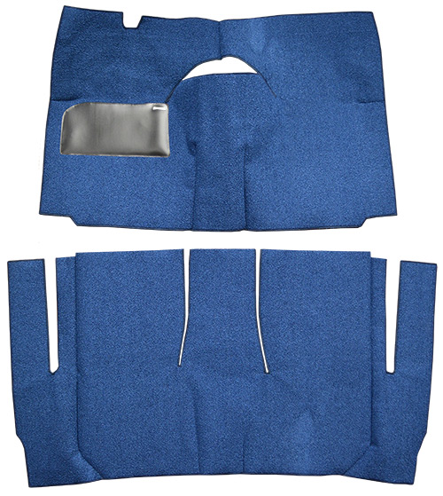 1958 Ford Sunliner Carpet Replacement - Loop - Complete | Fits: 2DR, Convertible, Standard Seats, Cut & Sewn