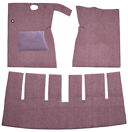 1963 Ford Galaxie Carpet Replacement - Loop - Complete | Fits: 2DR, Convertible, Auto, 4spd, with Console, Cut & Sewn