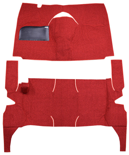 1958 Ford Victoria Carpet Replacement - Loop - Complete   Fits: 4DR, Hardtop, Power Seats