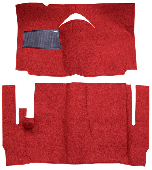 1959 Ford Galaxie Carpet Replacement - Loop - Complete | Fits: 2DR, Convertible, Power Seats, Cut & Sewn