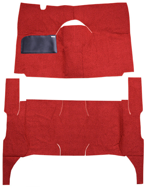 1958 Ford Ranch Wagon Carpet Replacement - Loop - Complete | Fits: 4DR, Standard Seats, Cut & Sewn