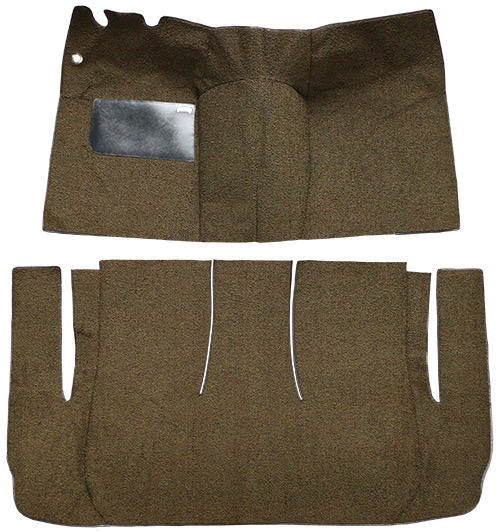 1957 Ford Ranch Wagon Carpet Replacement - Loop - Complete | Fits: 2DR, Standard Seats, Cut & Sewn