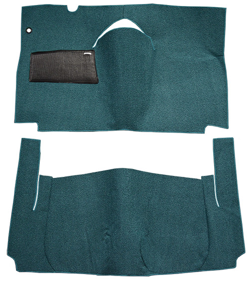 1959 Ford Galaxie Carpet Replacement - Loop - Complete | Fits: 2DR, Retractable Hardtop, Standard Seats, Cut & Sewn