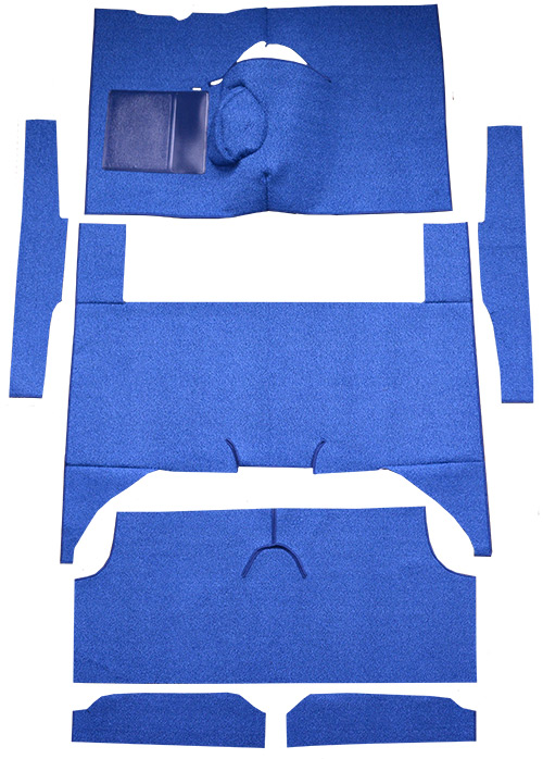 1963-1965 Ford Falcon Carpet Replacement - Loop - Complete | Fits: 4DR, Wagon, 4spd, Bench Seat, 8 Cylinder