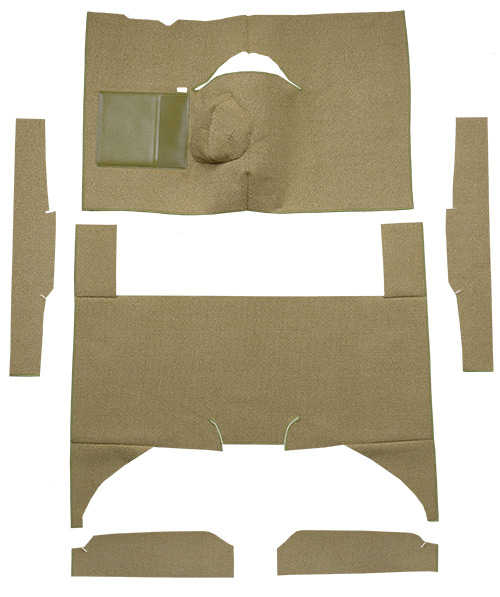 1963-1965 Ford Falcon Carpet Replacement - Loop - Complete | Fits: 4DR, Sedan, 4spd, Bench Seat, 8 Cylinder
