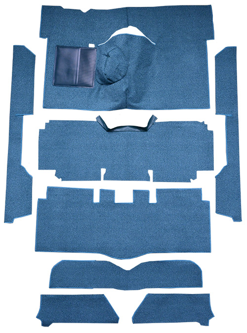 1963-1965 Ford Falcon Carpet Replacement - Loop - Complete | Fits: 2DR, Convertible, 4spd, Bucket Seat, 8 Cylinder