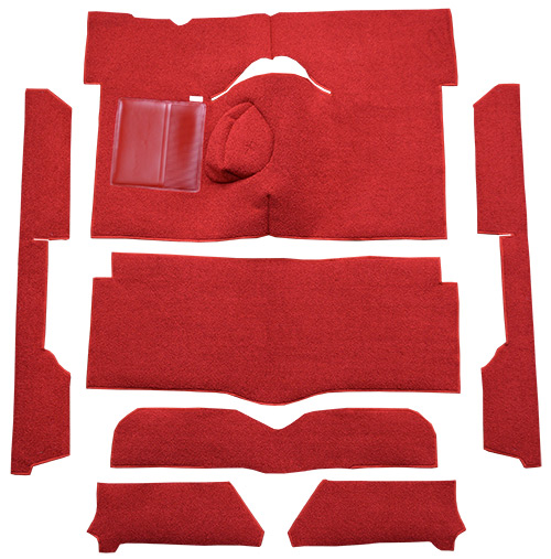 1963-1965 Ford Falcon Carpet Replacement - Loop - Complete | Fits: 2DR, Convertible, 4spd, Bench Seat, 8 Cylinder