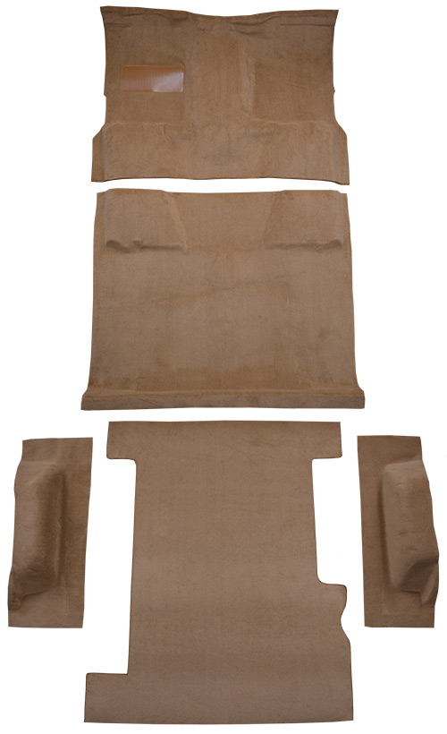 1989-1991 Chevy R2500 Suburban Carpet Replacement - Cutpile - Complete | Fits: 2WD, 4spd, Complete