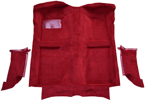 1983-1989 Ford Mustang Carpet Replacement - Cutpile - Complete | Fits: Convertible, with Molded Quarter Panels