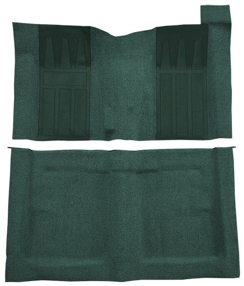 1969-1970 Ford Ranchero GT Carpet Replacement - Loop - Complete | Fits: 4spd, with 2 Aqua Inserts